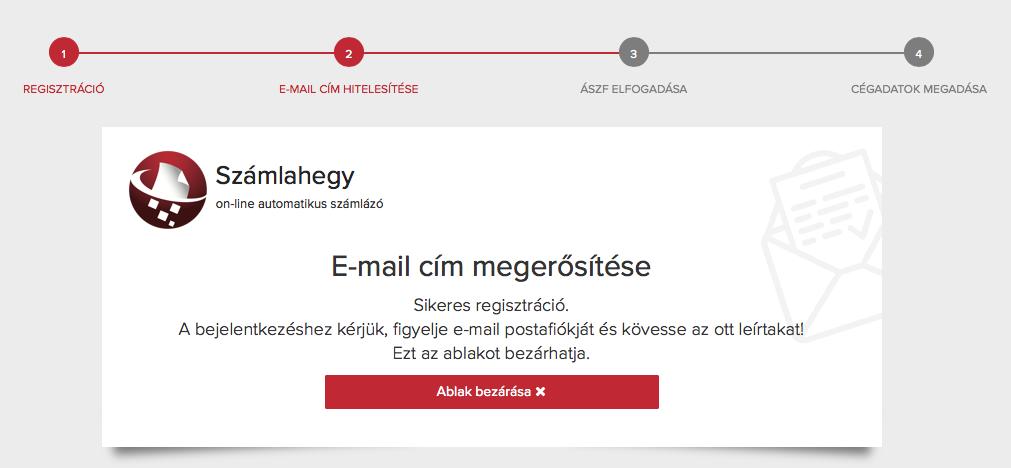 Számlahegy regisztráció megerősítés
