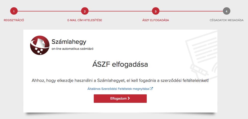 Számlahegy regisztráció ÁSZF