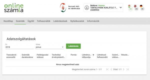 nav adatszolgáltatás képernyő